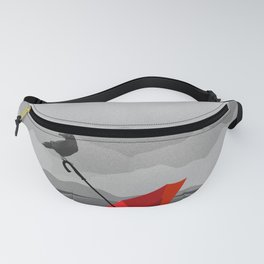 Crow and umbrella Fanny Pack
