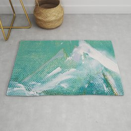 Canvas Peaks - an abstract, textured artwork by Jacob von Sternberg Rug