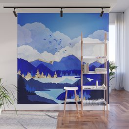 Blue Lake Wall Mural
