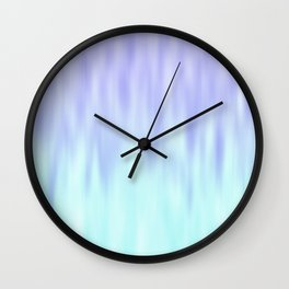 Ice blue abstract design Wall Clock