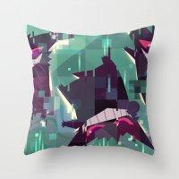 gengar Throw Pillows featuring Gengar by tinysnails