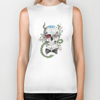 calavera Biker Tanks featuring Calavera by Barbara Azul
