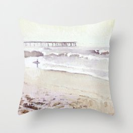 Pale Surfer Throw Pillow
