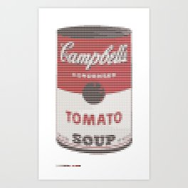 Pantone as pixel Campbell Art Print