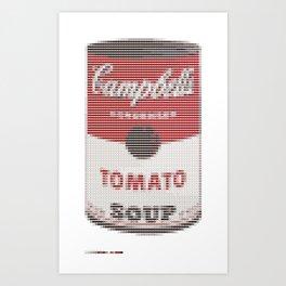 Pantone as pixel Campbell Art Print
