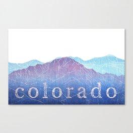 Colorado Mountain Ranges_Pikes Peak + Continental Divide Canvas Print