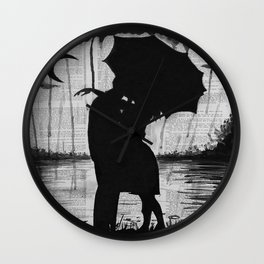 Meeting two hearts Wall Clock