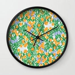 Mandarin season Wall Clock