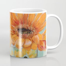 Gerber Daisy Retro Glass Painting Coffee Mug