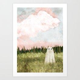 Cotton candy skies Art Print