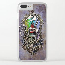 Fuck your dreams Clear iPhone Case