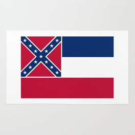 Mississippi State Flag, Authentic Version Rug