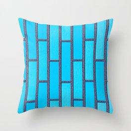 Turquoise Brick Throw Pillow
