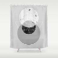 minimalism Shower Curtains featuring Minimalism 9 by Mareike Böhmer