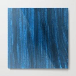Dark Blue Falling Metal Print