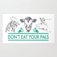 vegan Art Prints featuring Vegan  by Livi