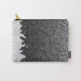 Ombre White and Black Urban Camouflage Carry-All Pouch