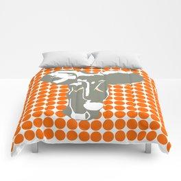 Tangerine Safari Dot with Pop Art Elephant Comforters
