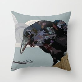 Invasion of the Crows Throw Pillow