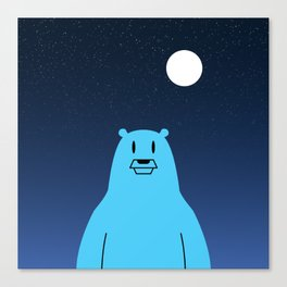 Space Bear in space Canvas Print
