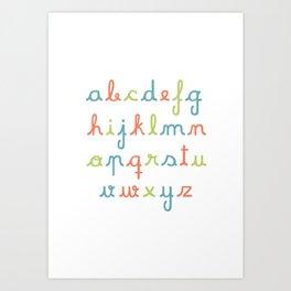 abc... rgb... Art Print