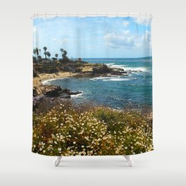 La Jolla Cove, California, Spring Shower Curtain