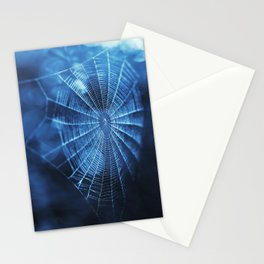 Spider Web in Blue Stationery Cards