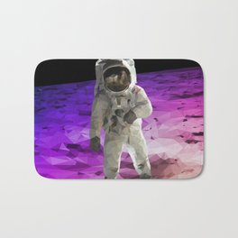 Astronaut Low Poly Bath Mat