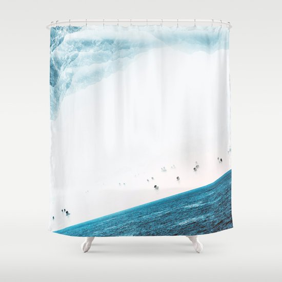 Teal Swim Shower Curtain By Stoian Hitrov