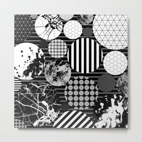 Eclectic Circles II Metal Print