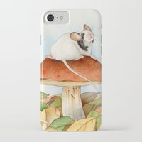 beaver iPhone & iPod Cases featuring Mouse & Beaver by Patrizia Donaera ILLUSTRATIONS