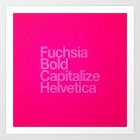 MetaType Fuschia Art Print