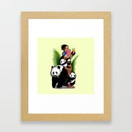 Panda Attack Framed Art Print