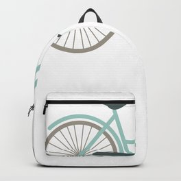 Cruiser Bicycle With Basket and Flowers Backpack