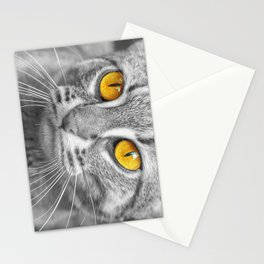 RUSTY SPOTTED CAT Stationery Cards