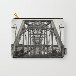 Walnut Street Bridge in Platinum Carry-All Pouch