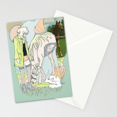 Us and Them: candy (horses) Stationery Cards