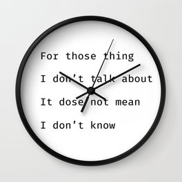for those thing Wall Clock