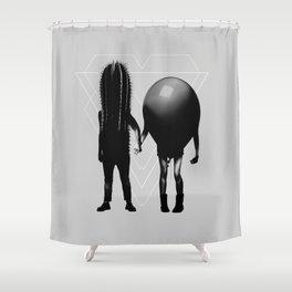Couple B&W Shower Curtain