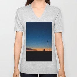Outback sunset Unisex V-Neck