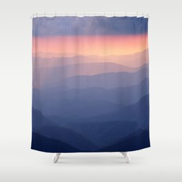 Sunset at Waterrock Knob, Blue Ridge Parkway, NC Shower Curtain
