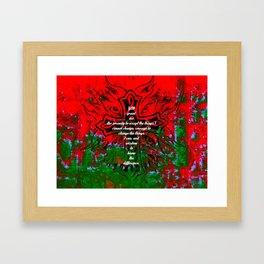 Serenity Prayer Inspirational Quote With Creative Motivational Art Framed Art Print
