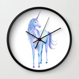 Watercolor Unicorn 3 Wall Clock