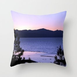 Pink Dreams - South Lake Tahoe, California Throw Pillow