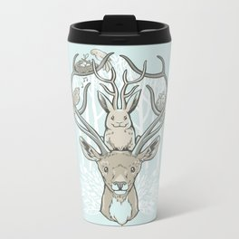 Friends & Birds Metal Travel Mug