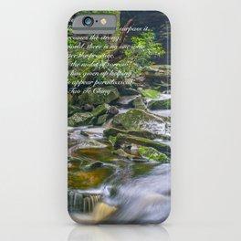 Lao Tsu Quote Zen Waterfall Print iPhone Case