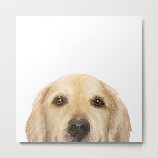 Golden retriever Dog illustration original painting print by miartdesigncreation