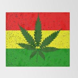Rastafarian Flag Throw Blanket