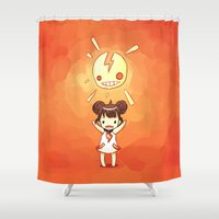 always sunny Shower Curtains featuring Sunny by Freeminds
