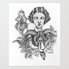 Bride of Baphomet Art Print